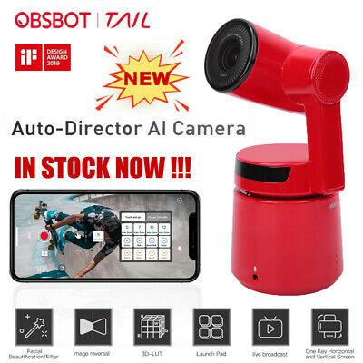 OBSBOT Tail 3-Axis Auto Director AI Camera 12MP HD 360°Sport Monitor Video Cam