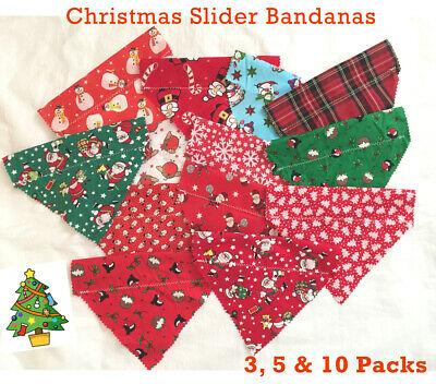 CHRISTMAS DOG BANDANAS, slide on collar, Value Range, Christmas, Dog Groomers