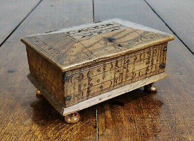 A small 17th century English box.