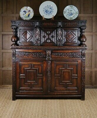 A fabulous 17th century Court cupboard.