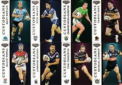 2019 Nrl Elite Custodians Trading Cards Full Set Of 16 Ponga, Trbojevic, Tedesco