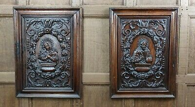 A fine pair of 17th century walnut panels.