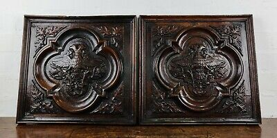A pair of 17th century Carved panels.