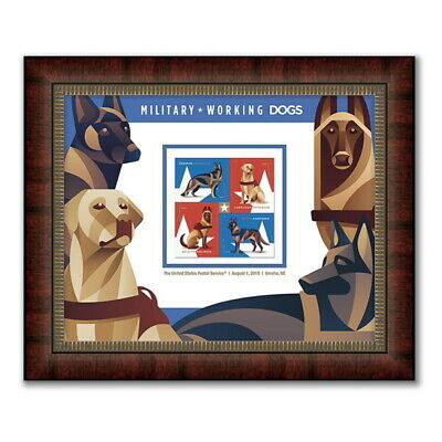 USPS New Military Working Dogs Framed Stamps