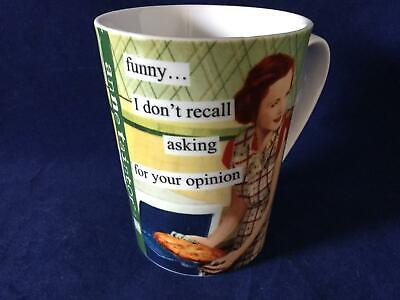 MARTINIS NEW Anne Taintor Porcelain  Mug Cup Retro Sassy Fun Gift