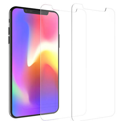 2x Tempered Glass Screen Protector Premium Films For iPhone XS Max Clear New