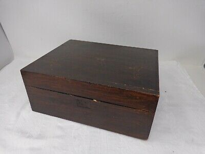 Antique Rosewood Writing Slope Box - In Need Of Restoration - Upcyle Project  E1
