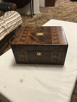 A193 Bur Walnut Writing Slope Box