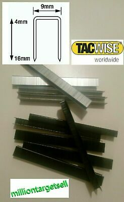 tacwise series Type 71 2-120 stripes 20000 Staples 4mm - 16mm silver black