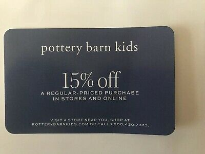 Pottery Barn Kids 15% OFF Entire Purchase In Store or Online Expires 2/29/2020