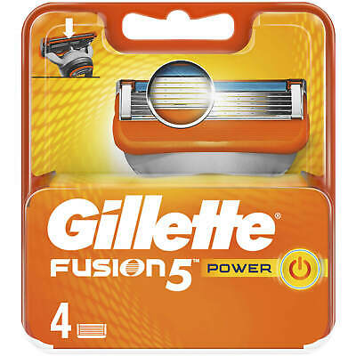 Gillette Fusion5 Power Razor 4 Blades 100% Genuine UK POST FIRST CLASS PROMOTION