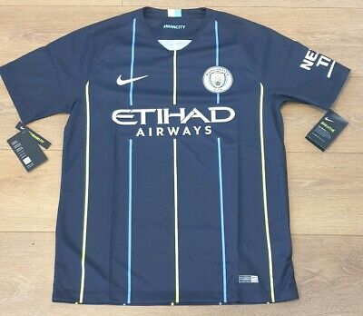 Manchester City Official Nike 18/19 Away Football top- Medium Mens New with tags