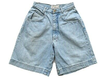 Women's Ladies Vintage High Waisted Faded Blue Denim Shorts Retro 6