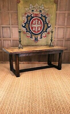 A rustic 18th century refectory table