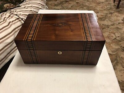 A203 Large Mahogany Writing Slope Box