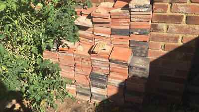 500 6 inch clay victorian quarry tiles black and terracotta