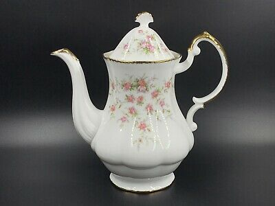 Paragon Victoriana Rose Coffee Pot Large Bone China England (a)