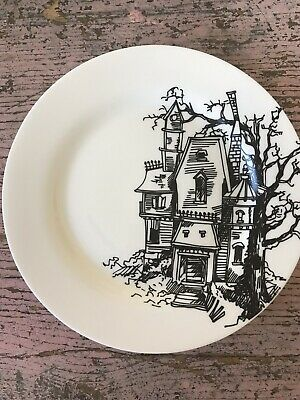 Rare Ciroa Haunted House 4 Salad Plates Halloween Sold Out 2015 Discontinued