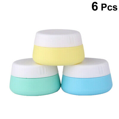 6pc Cosmetic Containers Round 10ml Holder Facial Cream Jar with Sealed Lids Home