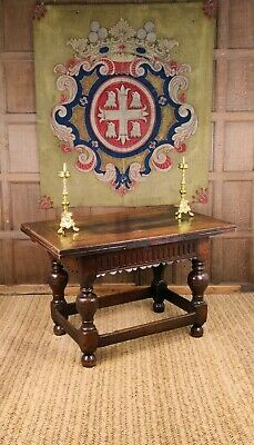 A lovely 17th century English draw-leaf table