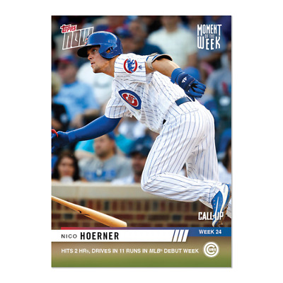 2019 Topps NOW MOW-24 Nico Hoerner CALL-UP Chicago Cubs ~ Week 24