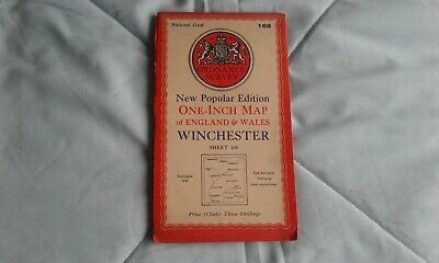 Ordnance survey map popular edition, one-inch, Winchester #168, 1945