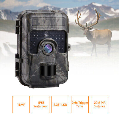 1080P 16MP HD Trail Hunting Camera Wilflife Scouting LED Infrared No Spy Hidden