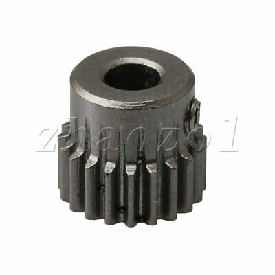 Spur Pinion Gear With Step 0.5Mod 20T 45# Steel Motor Gear With Fixing Screw 4mm