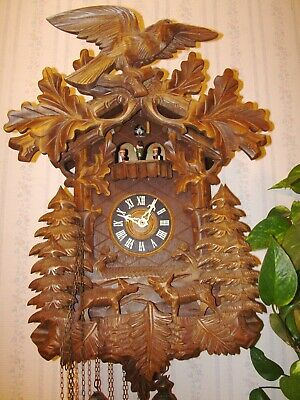 8 day musical cuckoo clock has run well, cleaned, oiled is working correctly.