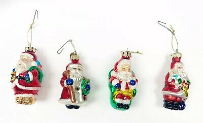 Hand Blown Thomas Pacconi Glass Christmas Ornaments Santa