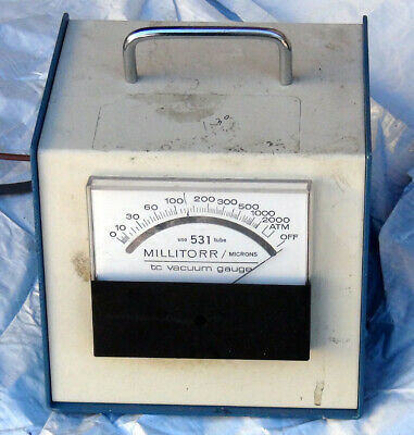 Millitorr TC Vacuum Gauge Box - Varian 531 Vacuum Sensor Thermocouple Gauge Tube