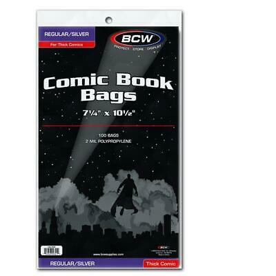 300 BCW Silver Comic Book Acid Free Poly THICK Bags archival sleeves