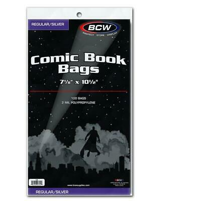 300 BCW Silver Comic Book Acid Free Poly Bags archival sleeves
