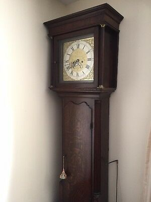 Antique Grandfather Clock Rare Original 1780! Wills And Wilks RARE