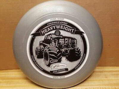 Wham O Brand Heavyweight Silver Monster Truck 200G Frisbee Disc Good  Shape!