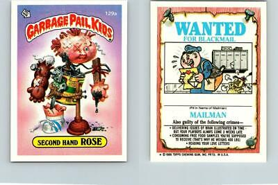 1986 SERIES 4 TOPPS GPK GARBAGE PAIL KIDS 129a SECOND HAND ROSE