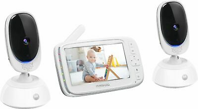 "Motorola - Video Baby Monitor with 2 cameras and 5"" Screen - Black/White"