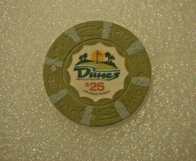 Vintage Dunes $25 Casino Gaming Chip Las Vegas, Original Hard To Find