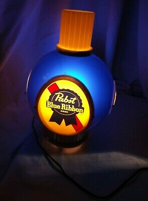 Vintage Single 1960s Pabst Blue Ribbon Beer Electric Wall Sconce Light Wall Lamp