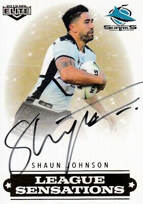 2019 Nrl Elite League Sensations Signature - Ls4 Shaun Johnson Sharks  #81 Of 90