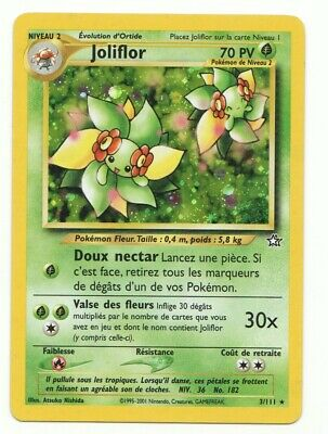 Pokemon Trading Card Game BELLOSSOM French Neo Genesis Holo-Foil #003 NM