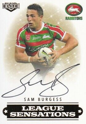 2019 Nrl Elite League Sensations Signature - Ls12 Sam Burgess Rabbitohs #55 / 90