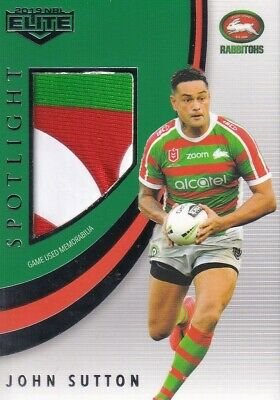 2019 Nrl Elite Spotlight Jersey Patch - Slj5 John Sutton Rabbitohs - #05 Of 83