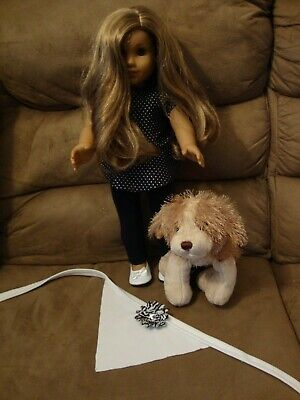 American Girl Doll 2014 Lea Clark EUC with puppy