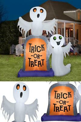 Halloween Outdoor Front Yard Inflatables Party Decoration Ghosts Tombstone, 7 ft