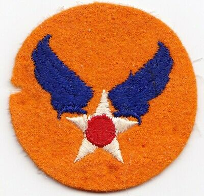 US Army Air Forces  WW2  orange felt color variation