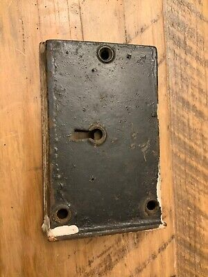 Antique Victorian Interior Door knob Mechanism lock boxes Skeleton key No Key
