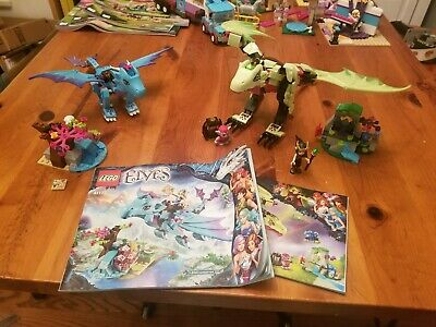 LEGO Elves 41183 The Goblin King's Evil Dragon and 41172 Water Dragon Adventure