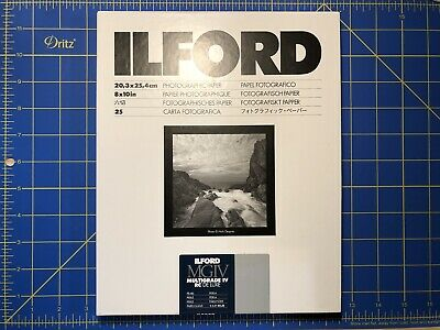 Ilford Multigrade IV RC De Luxe 8x10 (25 sheets) B&W photographic paper pearl