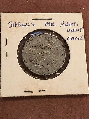 1968-69 Shell Oil Mr. President game token James Polk